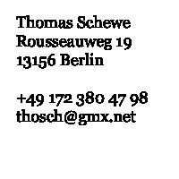 Visitenkarte Thomas Schewe