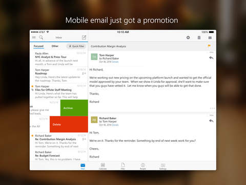 Screenshot Appstore Outlook for iOS